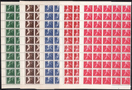 ** 1947 Szabadsághőseink Sor 50 Darabos Félívekben (125.000) - Unclassified