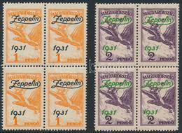 ** 1931 Zeppelin Sor Négyestömbökben (112.000) - Unclassified