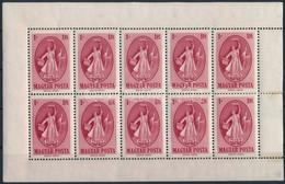 ** 1949 Puskin Kisív Bal Oldalon Fogazatlan ívszéllel (100.000) (jobb Oldalon Elvált Fogak és Ragasztás Nyoma / Aparted  - Unclassified