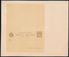 1900 4f Díjjegyes Kétnyelvű Válaszos Levelező Lap, Az Eredeti Nyomólemezről Valószínűleg A Világkiállítási Albumhoz Kész - Unclassified