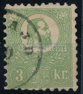 O 1871 Kőnyomat 3kr (140.000) Barabássy Vizsálójellel (elvékonyodás, Alul Rövid Fogak / Thin Paper, Short Perfs. Below) - Unclassified