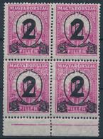 ** 1932 Kisegítő 518 ívszéli Négyestömb (100.000) (néhány Fog Elválóban, Az Alsó 2 Bélyegen Enyhe (gyártási) Hajtás / A  - Unclassified