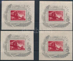 ** 1948 4 Db Lánchíd I. Blokk (120.000) (vegyes Minőség / Mixed Quality) - Unclassified