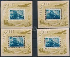 ** 1948 4 Db Lánchíd II. Blokk (120.000) (vegyes Minőség / Mixed Quality) - Unclassified