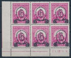 ** 1931 Kisegítő 506B ívsarki Hatostömb (90.000) - Unclassified