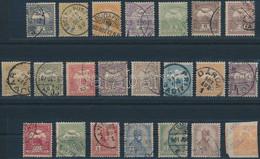 """O 1900 Turul Teljes Sor Hírlapbélyeggel, """"b"""" Számvízjelállás (~95.000) - Unclassified"""