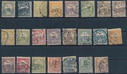O 1900 Turul Teljes Sor Hírlapbélyeggel, 3. Vízjelállás (88.000 + A Lilásbarna 6f Aminek értéke Kérdőjel A Katalógusban) - Unclassified