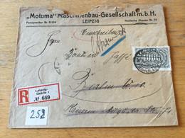 K14 Deutsches Reich 1923 R-Brief Von Leipzig-Gohlis - Covers & Documents