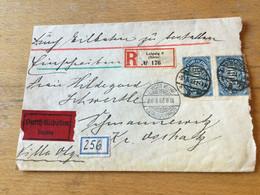 K14 Deutsches Reich 1923 R-Brief Von Leipzig Börse!!! Nach Schmannewitz Zweiseitig Geöffnet - Covers & Documents