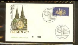 1987 - Deutschland FDC Mi. 1329 (2) - 1200. Jahrestag Der Erhebung Bremens Zur Bischofssitz [PB6_889] - FDC: Briefe