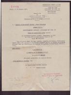 """Lettre à En-tête """" Secrétariat D'état à L'air """" Décision N° 20 Du 24 Octobre 1952 à Paris - Documenti"""