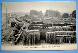 Carte Postale Ancienne - LENS - L'emmagasinement Des Bois De Soutènement - Mijnen