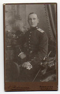 Y640/ CDV Foto Soldat Militär 62. Regiment  Atelier Rohrmann, Hannover Ca.1910 - Unclassified