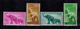 GUINEA Espagnole , 1959 , ** , MNH , Postfrisch , Mi.Nr. 334 - 337 - Guinea Spagnola