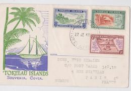 Tokelau Islands Enveloppe Timbre Fakaofo Atafu Nukunono Stamp Cancellation FDC Souvenir Cover Pacific Ocean Map 1948 - Tokelau