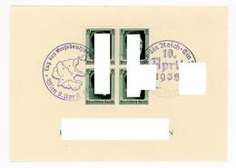 Deutsches Reich Block Nummer 7 Sonderstempel Wien 1938 - Blocks & Sheetlets