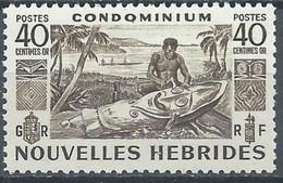 NOUVELLES HEBRIDES - Sculpteur Indigéne - Unused Stamps