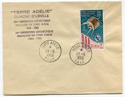 RC 19705 TAAF COTE 225€ PA N° 9 ENVELOPPE DES EXPÉDITIONS 1963 / 1966 ( VOIR DESCRIPTION ) - Brieven En Documenten