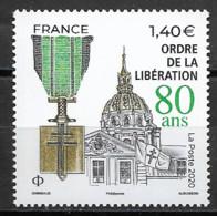 France 2020   Neuf **  N° 5458   Ordre De La Libération ( 80 Ans ) -  à  1,40 € - Unused Stamps
