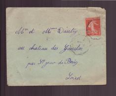 France, Enveloppe Du 17 Octobre 1911 Pour Saint-Jean De Braye - Lettres & Documents