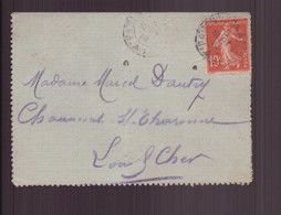 France, Enveloppe Du 5 Septembre 1914 Pour Chaumont Sur Tharonne - Lettres & Documents