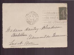 France, Enveloppe Du 11 Mai 1918 De Paris Pour Chaumont Sur Tharonne - Lettres & Documents