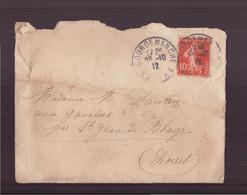 France, Enveloppe Du 28 Octobre 1912 De Courdemanche Pour Saint-Jean De Braye - Lettres & Documents