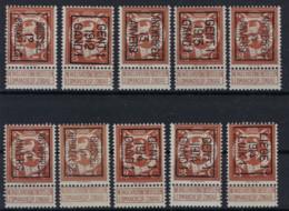 Lot Met Nr. 109 (10 X) Allen ** MNH En In Zéér Goede Staat Met O.a. Nrs. 53B , 40B , 42B En 51B , Zie Ook Scan ! - Typos 1912-14 (Lion)