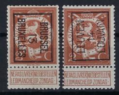 Nr. 109 Met Voorafgestempeld Nrs. 41B En 52A , Beiden (*) Postfris Zonder Gom En In Goede Staat , Zie Ook Scan ! - Typos 1912-14 (Lion)