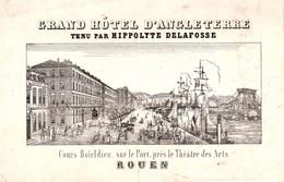Carte De Commerce Du Grand Hotel D'Angleterre, Rouen - Sin Clasificación