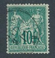 DX-277: FRANCE: Lot Avec N°76 Obl (2 Dents Faibles) - 1876-1898 Sage (Type II)
