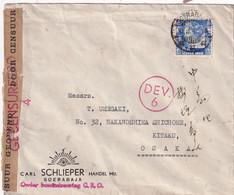 INDES NEERLANDAISES 1940 LETTRE CENSUREE DE SOERABAJA POUR OSAKA - Indie Olandesi