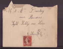 France, Enveloppe  Du 11 Juillet 1913 Pour Sully-sur-Loire - Lettres & Documents