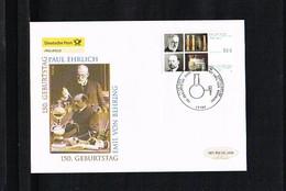 Famous People - Nobel Prize Winners - Paul Ehrlich - Emil Von Behring - FDC Mi. 2389 Germany 2004 [KF064] - Nobel Prize Laureates