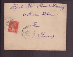 France, Enveloppe Du 4 Mars 1913 De Lamotte Beuvron Pour Paris - Lettres & Documents