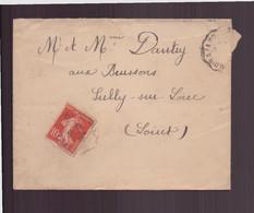 France, Enveloppe Du 6 Juillet 1913 De Lamotte Beuvron Pour Sully-sur-Loire - Lettres & Documents
