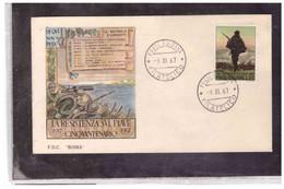 FDC6577  -  BOLOGNA   9.11.1967  /    FDC CINQUANTENARIO DELLA RESISTENZA SUL PIAVE - FDC