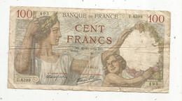 Billet , France , 100 , Cent Francs ,SULLY , 30-11-1939 , 2 Scans , Frais Fr 1.85 € - 100 F 1939-1942 ''Sully''