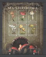 VV657 2010 NEVIS MUSHROOMS FLORA NATURE KB MNH - Mushrooms
