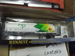 CAMION SEMI REMORQUE 1:32 NEWRAY RENAULT AE500 MAGNUM CITERNE PETROLE ESSENCE BP BRITISH PETROLEUM - Scale 1:32