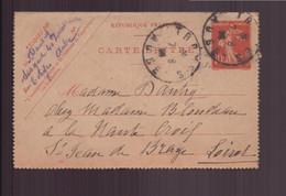 France, Carte Lettre Du 8 Août 1914 De Troyes Pour Saint-Jean De Braye - Lettres & Documents