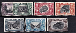 ST. HELENA 1934 CENTENARY SG114/120 1/2d - 1/- MH STAMPS MOUNTED MINT SUPERB - Isla Sta Helena