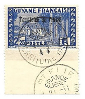 ININI N° 46 Obl FRANCE LIBRE Avec Bbrdure - Used Stamps