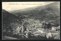 CPA Beaujeu, Ligne De Montsols Et Haut De La Ville - Beaujeu