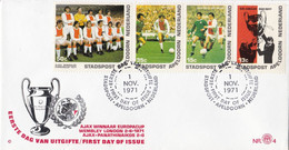 Stadspost Apeldoorn - FDC 4 - 1 November 1971 - Ajax - Winnaar Europa-Cup 1971 - Otros