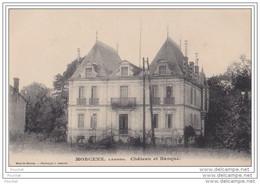 40) MORCENX (Landes)  CHATEAU ET BANQUE - Morcenx