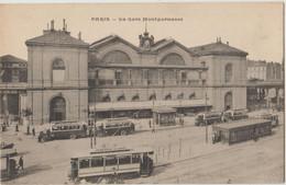 Cpa ( 75 Paris ) Paris , La Gare Montparnasse 1917 (Omnibus Hippomobile) - Paris (15)