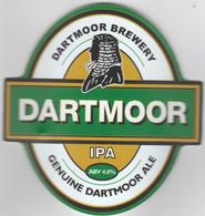 DARTMOOR BREWERY  (YEVERTON, ENGLAND) - DARTMOOR IPA - CURVED PUMP CLIP FRONT - Uithangborden