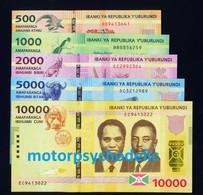 Burundi / Full Set 2015 / 500-10.000 Francs / P50-P54 / UNC - Burundi