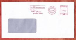 Brief, Hasler C19-338B, Stadt Frankfurt Der Zoo, 100 Pfg, 1990 (2846) - Affrancature Meccaniche Rosse (EMA)